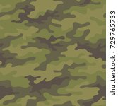 seamless camouflage pattern.... | Shutterstock .eps vector #729765733