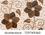 abstract home decorative flower ... | Shutterstock . vector #729769360