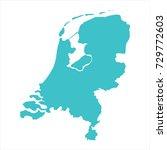 high detailed blue map of... | Shutterstock .eps vector #729772603