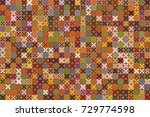 seamless vector background with ... | Shutterstock .eps vector #729774598