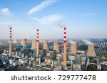 modern large thermal power... | Shutterstock . vector #729777478