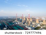 aerial view of modern large... | Shutterstock . vector #729777496