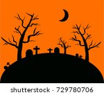 halloween background with the...   Shutterstock .eps vector #729780706