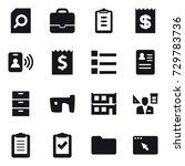 16 vector icon set   search... | Shutterstock .eps vector #729783736