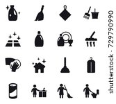 16 vector icon set   cleanser ... | Shutterstock .eps vector #729790990