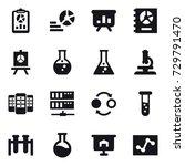 16 vector icon set   report ... | Shutterstock .eps vector #729791470