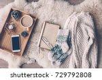 Mug With Coffee  Smart Phone...