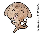cute cartoon dog | Shutterstock .eps vector #729794086