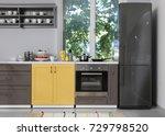 interior of modern kitchen | Shutterstock . vector #729798520