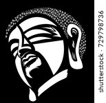 white buddha head or buddha... | Shutterstock .eps vector #729798736