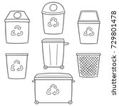 vector set of recycle garbage | Shutterstock .eps vector #729801478