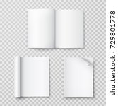 magazine with rolled white... | Shutterstock .eps vector #729801778