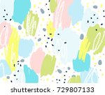 brush  marker  pencil stroke... | Shutterstock .eps vector #729807133