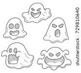 vector set of ghost | Shutterstock .eps vector #729810640