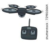 vector set of drone | Shutterstock .eps vector #729810664