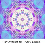 abstract magenta fractal with... | Shutterstock . vector #729812086
