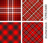 Plaid Check Patterns In Red ...