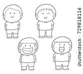 vector set of children | Shutterstock .eps vector #729818116