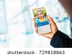 video call concept. indian... | Shutterstock . vector #729818863