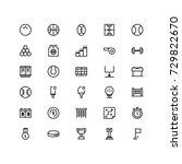 minimal icon set of sport...