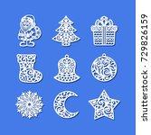 Set Of Christmas Icons. Santa...