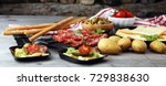 delicious traditional swiss...   Shutterstock . vector #729838630