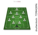 soccer game player tactics plan ... | Shutterstock .eps vector #729842896