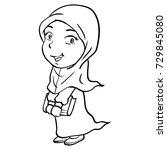 hand drawing of cartoon smiley... | Shutterstock .eps vector #729845080