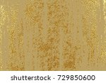 gold grunge texture to create... | Shutterstock .eps vector #729850600