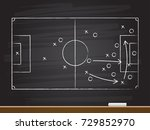 chalk hand drawing with soccer... | Shutterstock .eps vector #729852970