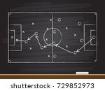 chalk hand drawing with soccer... | Shutterstock .eps vector #729852973