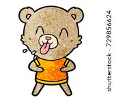rude cartoon bear | Shutterstock .eps vector #729856624