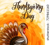 happy thanksgiving day greeting ... | Shutterstock .eps vector #729861160