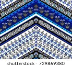 cool ethnic geometric design.... | Shutterstock .eps vector #729869380