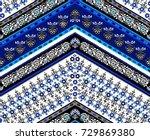 cool ethnic geometric design.... | Shutterstock .eps vector #729869380