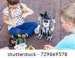 robotics class in school or... | Shutterstock . vector #729869578