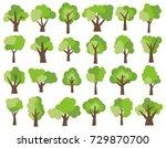 set of twenty four different... | Shutterstock . vector #729870700