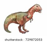 gigantosaurus. watercolor... | Shutterstock . vector #729872053