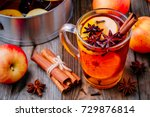 hot mulled apple cider with... | Shutterstock . vector #729876814