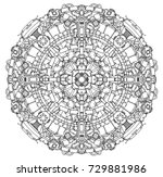 round ornamental techno sci fi...