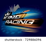 king racing concept vector | Shutterstock .eps vector #729886096