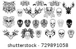 abstract skulls gothic and...