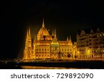 the hungarian parliament... | Shutterstock . vector #729892090