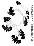 halloween bat decoration... | Shutterstock . vector #729896980