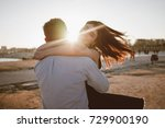 happy couple has fun outdoors... | Shutterstock . vector #729900190