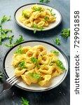 ravioli with parmesan and wild...