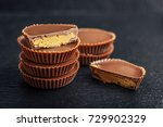 peanut butter cups  chocolate...   Shutterstock . vector #729902329