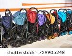 strollers for children in...   Shutterstock . vector #729905248