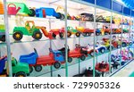 toy colored plastic cars in the ... | Shutterstock . vector #729905326