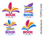 book club  library or shop ... | Shutterstock .eps vector #729911164